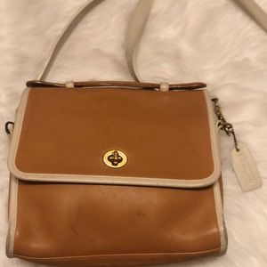 Coach Rare Spectator Court VintageLeather Satchel